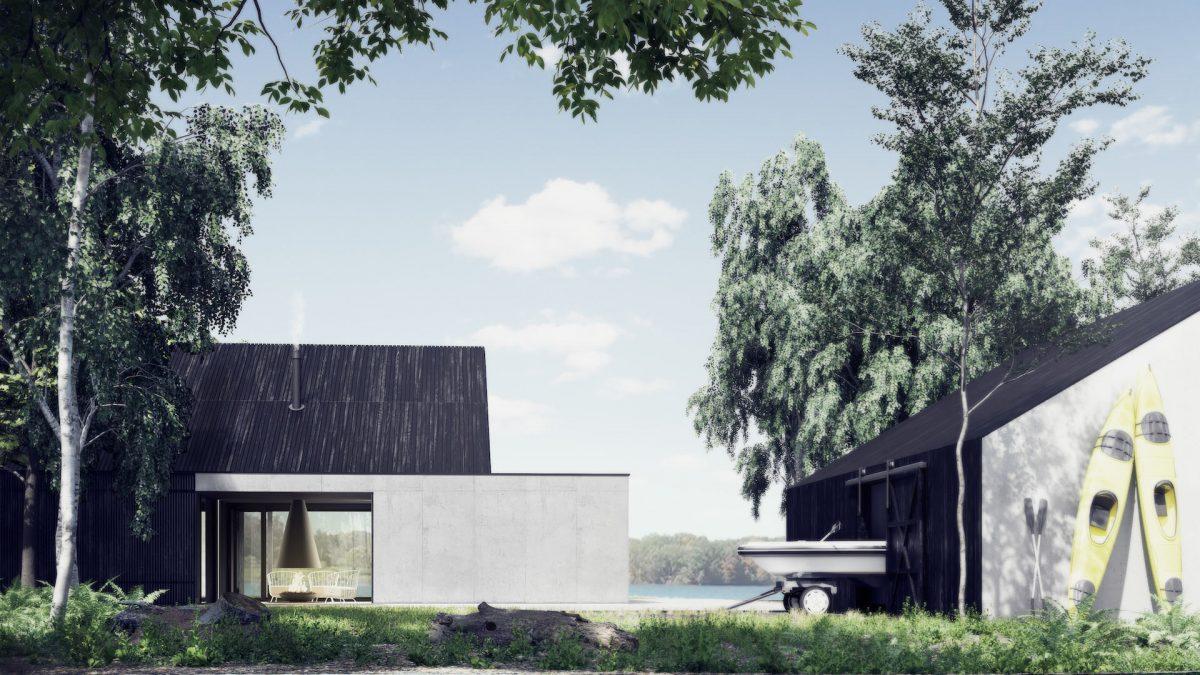 Projekt domu rekreacyjnego - Lake LODGE - Kamecki Architektura